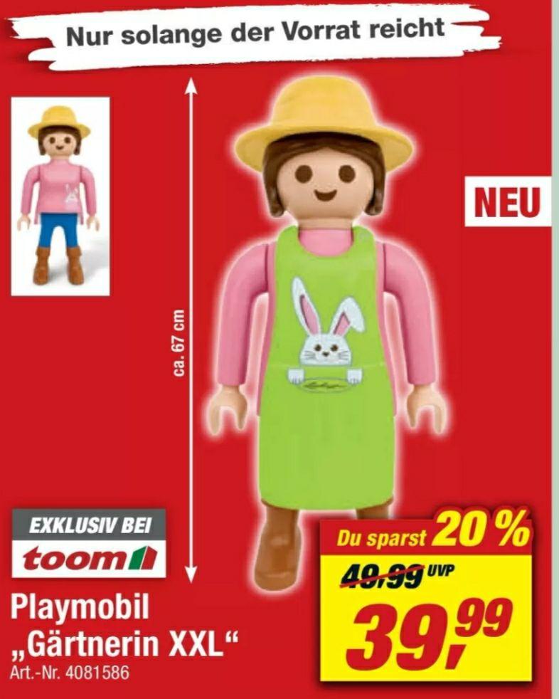 XXL Playmobilfigur Gärtnerin Oster Edition 68 cm Toom Baumarkt
