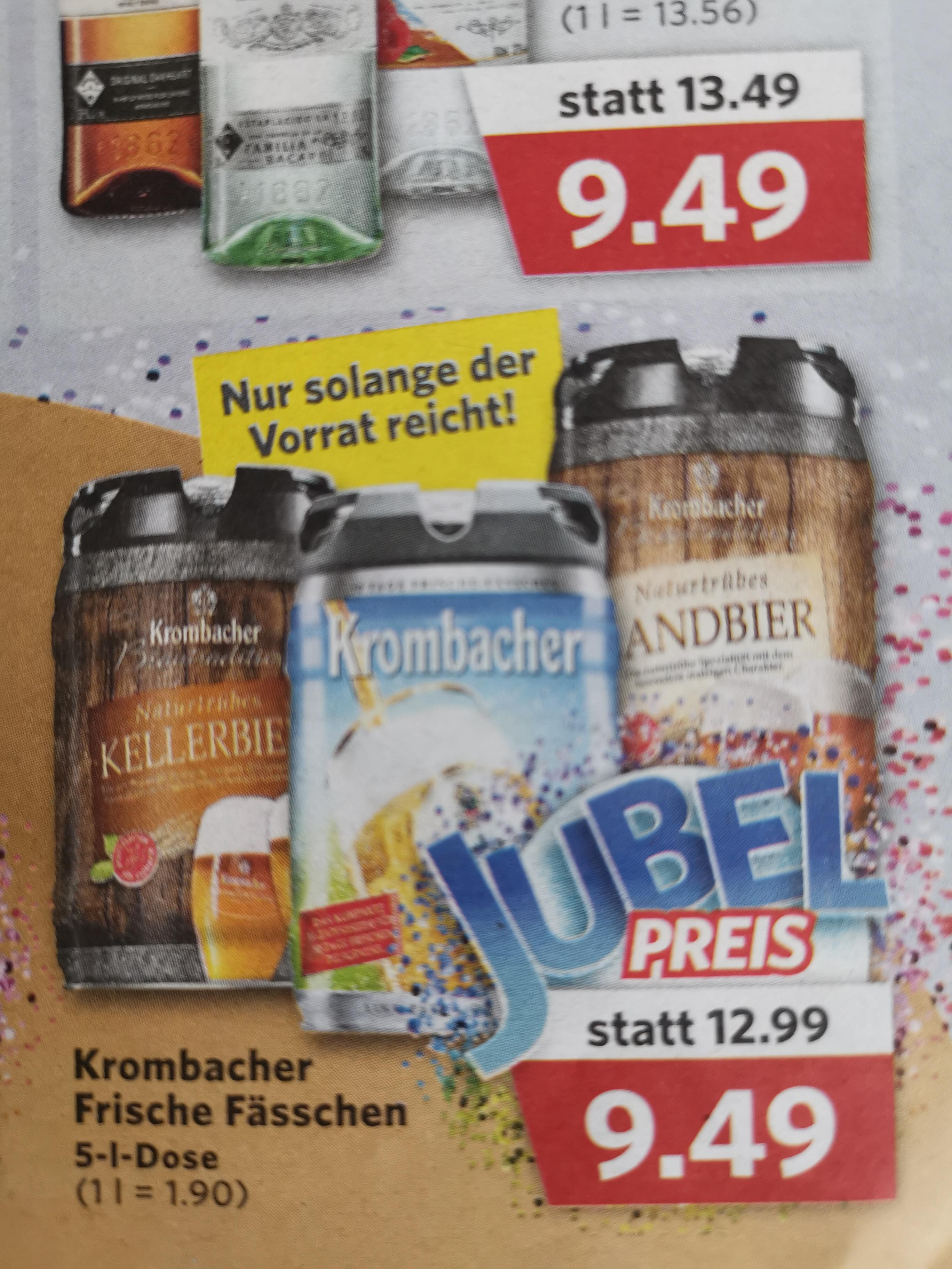 Combi: Krombacher Pils 5 Liter Fässchen mit integr. CO2 Zapfsystem REGIONAL/offline, Bier