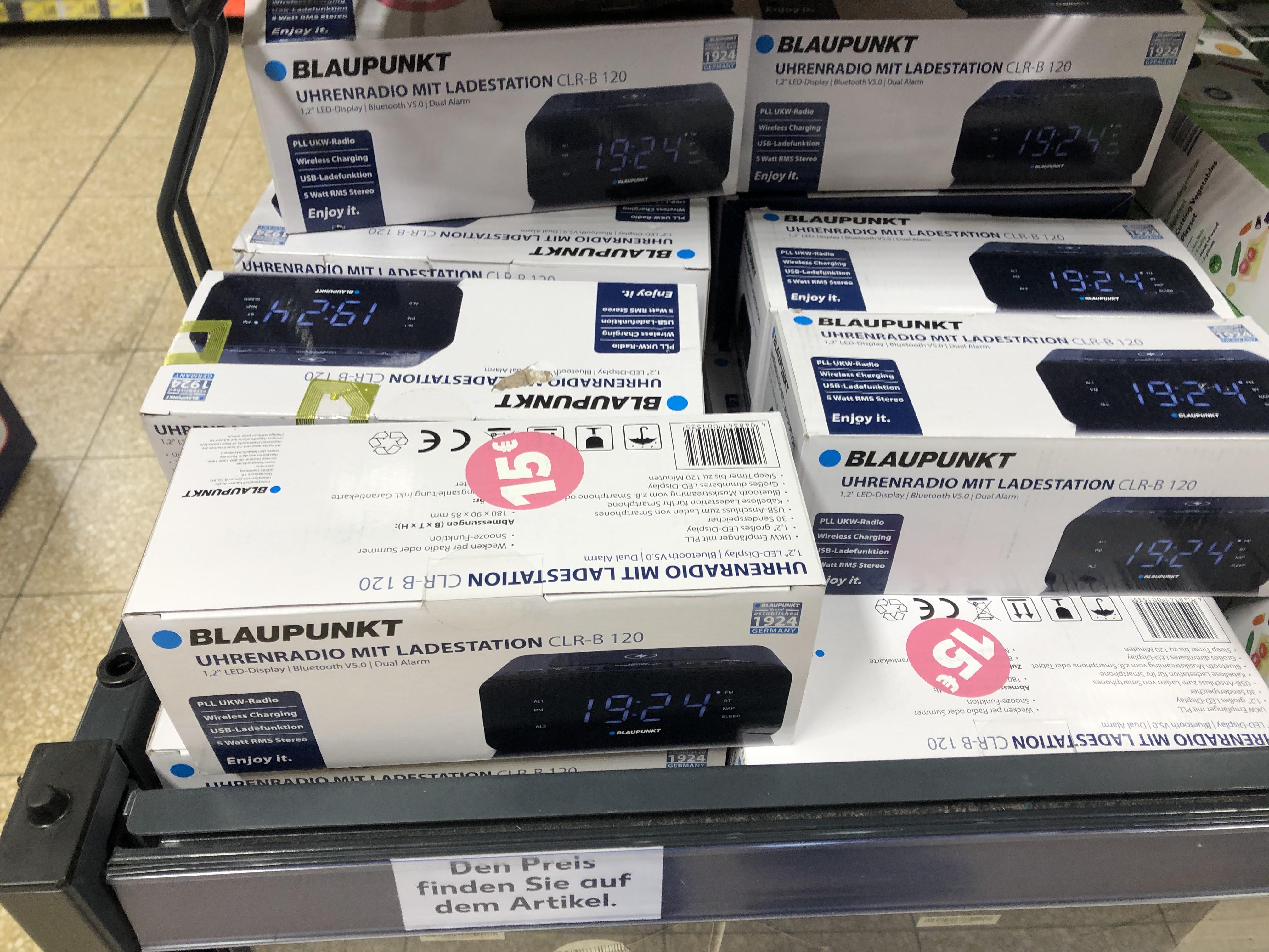 (Lokal Lüneburg) BLAUPUNKT CLR-B 120 Radiowecker mit Wireless charging