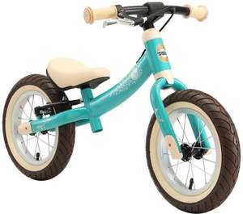 BIKESTAR Kinder Laufrad Lauflernrad Kinderrad für Jungen und Mädchen ab 3 - 4 Jahre   12 Zoll Sport Kinderlaufrad türkis
