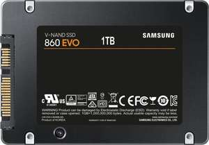 "Samsung 860 EVO 1TB 2,5"" SSD (3D TLC, 1GB DRAM, AES, 5 Jahre Garantie)"