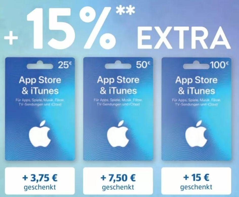 [Aldi Nord] Plus 15% auf App Store & iTunes Guthaben (25/50/100€)