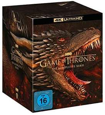 Amazon Prime Game of Thrones komplette Serie 4k 33 Uhd Discs