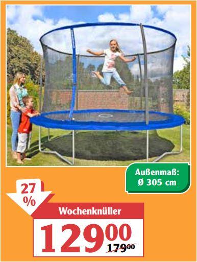 Trampolin, Durchmesser 305 cm für 129 Euro [Globus SB Warenhaus-Regional]