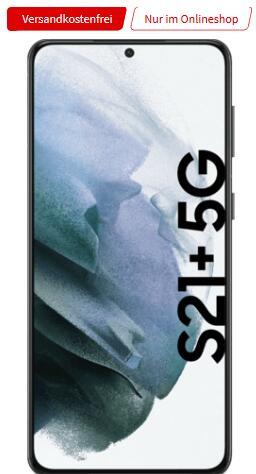 Samsung Galaxy S21 Plus 128GB 5G + Buds Live + Watch Active 40mm + 1 Jahr Netflix im O2 Free Unlimited Max 5G für 49,99€ mtl., 29€ einmalig