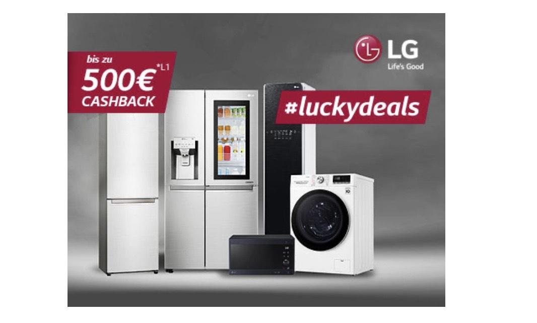#luckydealy - Bis zu 500€ Cashback auf LG Haushaltsgeräte
