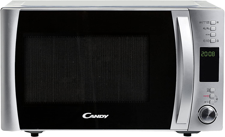 Candy CMXC 30DCS Mikrowelle mit Grill (30 Liter, 900 Watt, Edelstahl-Optik)
