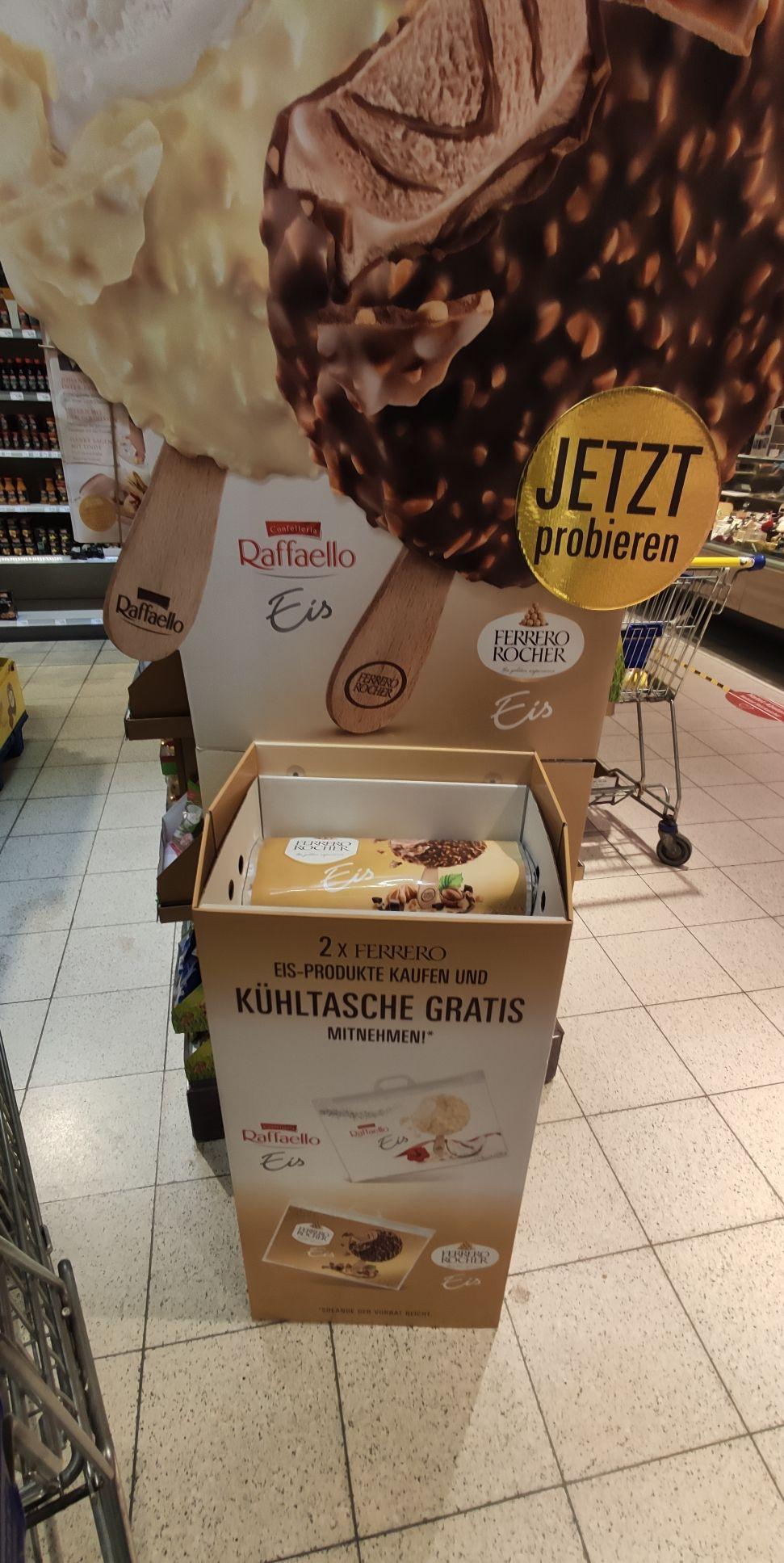 [Lokal Edeka evtl. weitere] 2x Ferrero Rocher/Raffaello Eis kaufen und Kühltasche gratis
