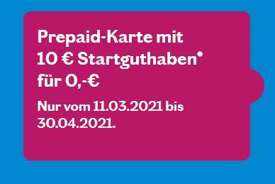 [lebara] SIM-Karte (Prepaid)   10€ Startguthaben   D-Netz (LTE)