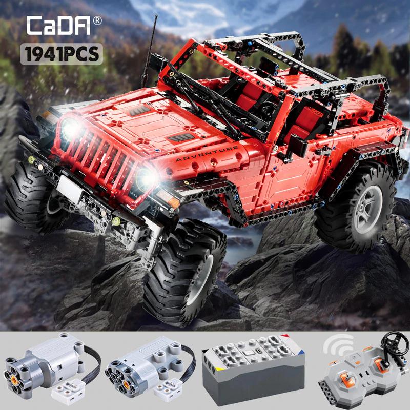 CaDA Jeep Wrangler Offroad CAD-C61006W ; 1941 Teile / Klemmbausteine für 83€