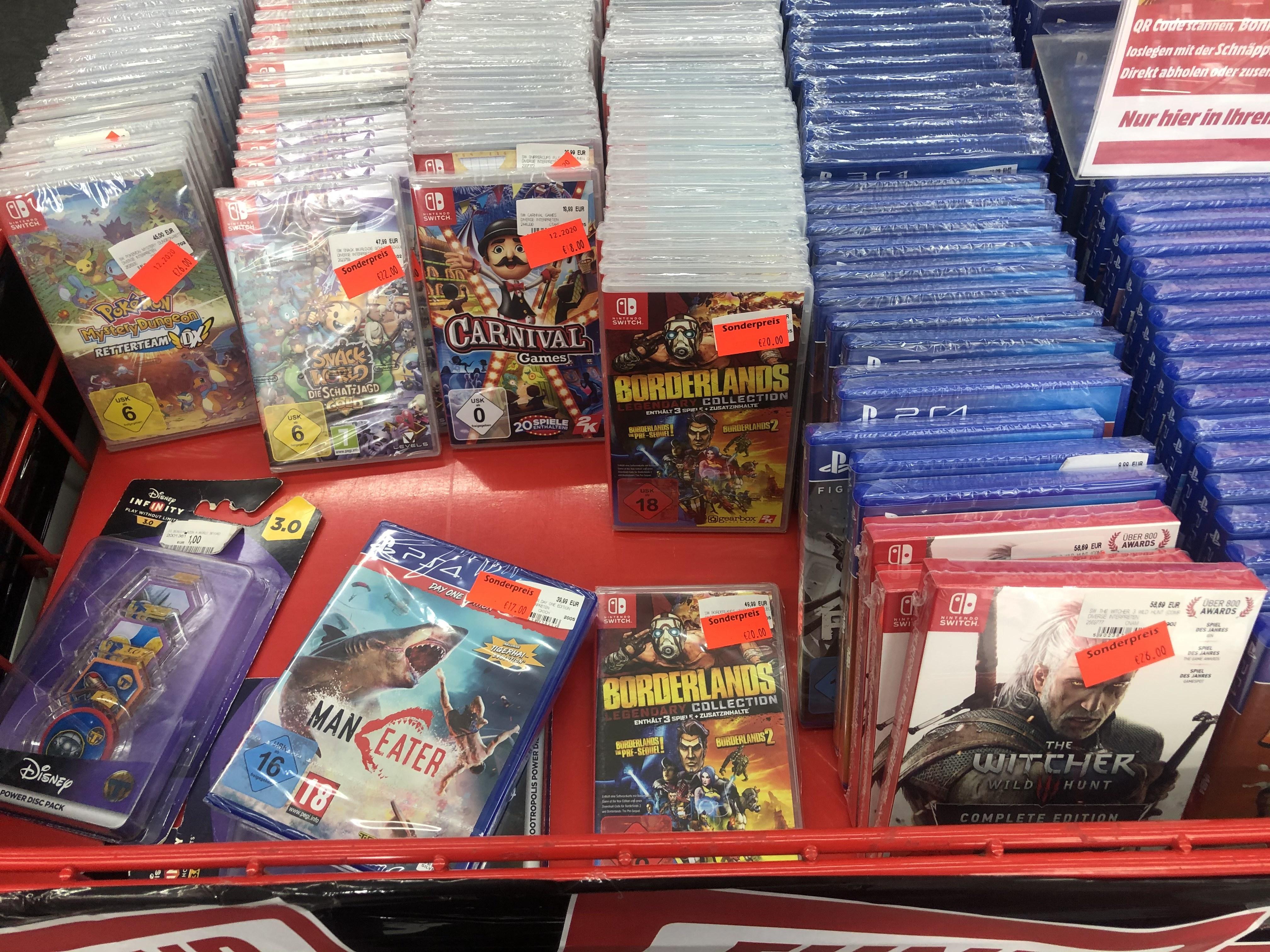 [LOKAL] Bonn Mediamarkt: Witcher 3 Switch, Pokemon Mystery Dungeon, Borderlands und Bioshock