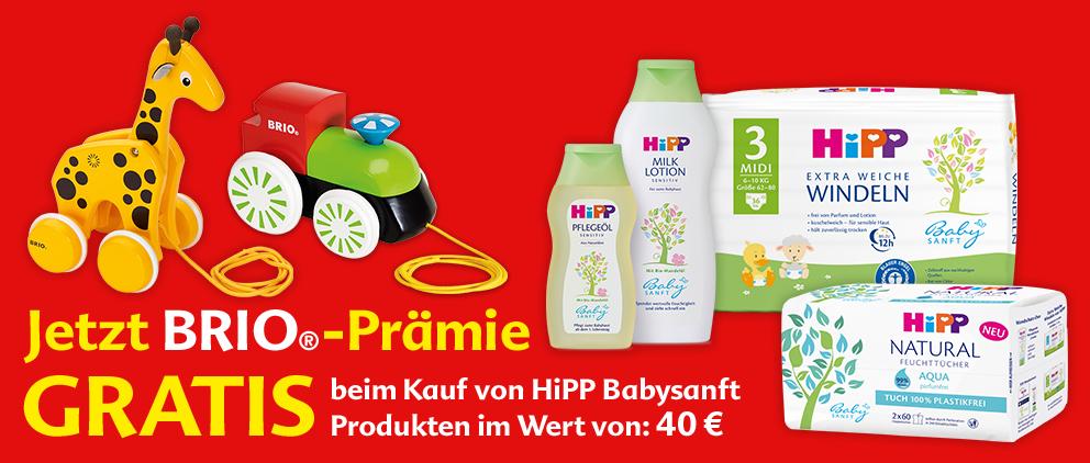 [dm] Gratis BRIO Nachzieh-Figur beim Kauf HiPP Babysanft Produkten im Wert von 40€