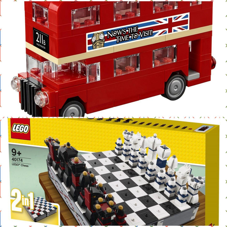 Legoland-Shop 40174 LEGO® Iconic – Schachspiel + 40220 Londoner Bus (auch einzeln)