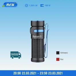 Olight Baton 3 Taschenlampe ( 1200 Lumen, Max. Reichweite: 166 Meter, Bis zu 20 Tagen Laufzeit mit einem IMR16340 Li-Ion-Akku )