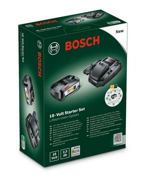 """[BayWa/C&C möglich] Bosch Akku & Ladegerät """"Starter-Set"""", 2,5Ah Bosch Green"""