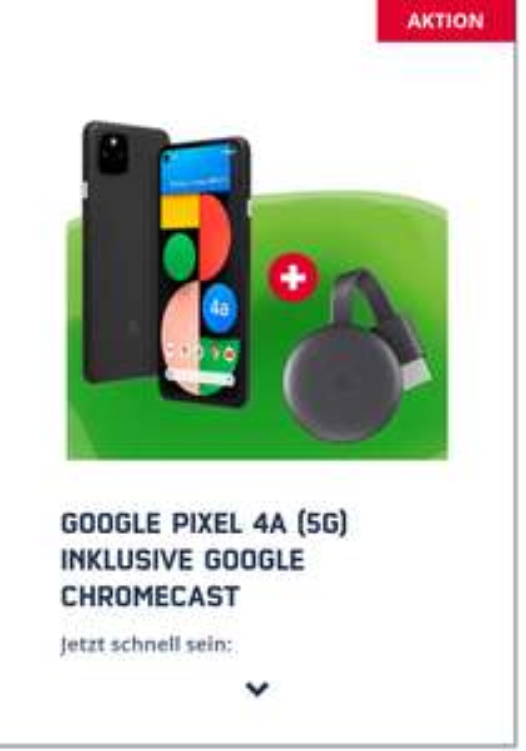 Google Pixel 4a 5g + Google Chromecast 3