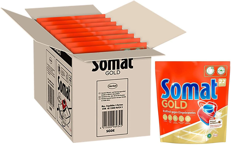 [Prime Sparabo] Somat Gold, Spülmaschinentabs, Sparpack, 176 Tabs, Extra Kraft gegen Eingebranntes und Glanz Effekt (ca 0,11€ pro Tab)