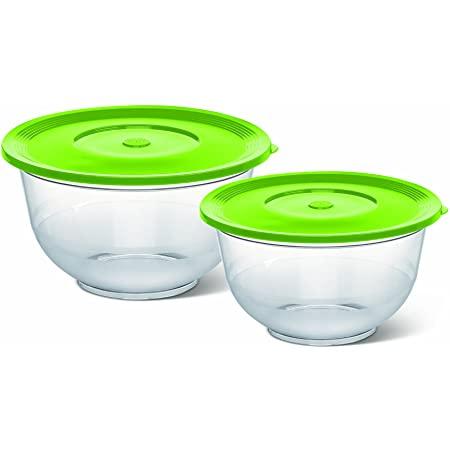 2er Set Emsa Salatschalen in grün / transparent (mit Deckel, 2l (22cm) & 3,5l (26cm), Kunststoff) oder 4er Set für 23,88€ inkl. Versand