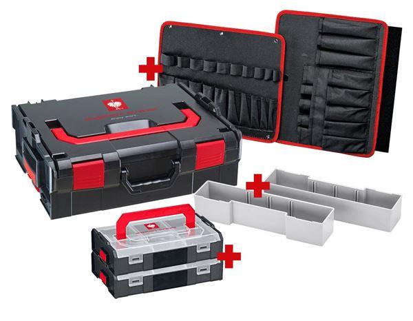 Engelbert Strauß L-Boxx Werkzeugkoffer Set (Leer) mit 3 seitiger Werkzeugkarte