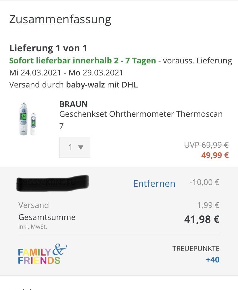 Braun Thermoscan 7 Geschenkset