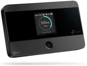 TP-Link M7350 V4 mobiler WLAN Hotspot (4G/LTE, Dualband Router, 2.000 mAh, 2,4 & 5 GHz, LCD Display, bis 10 Geräte)