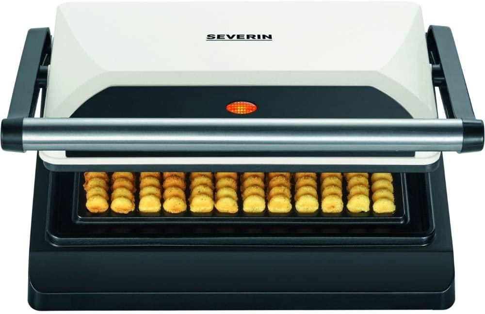 [Prime] Severin WA 2114 Waffelpommes-Maker (800W, für 12 Waffeln im Pommes-Style, antihaftbeschichtet, 29x10.8x26cm)