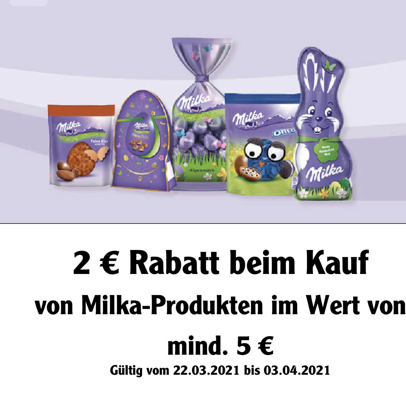 [Globus Kundenkarte] 2 Euro Rabatt auf Milka Artikel (5 Euro MBW)