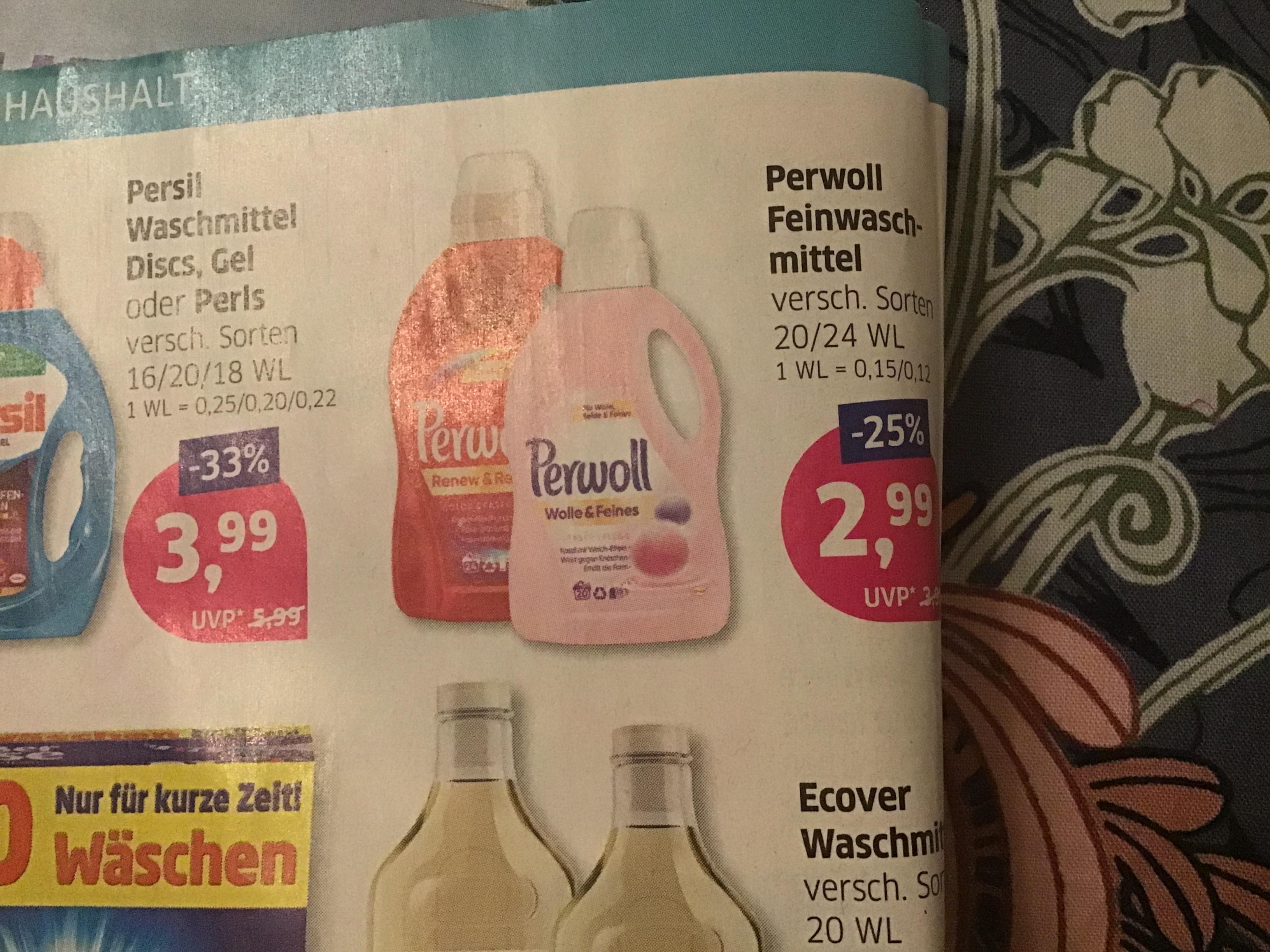 [Budni+Offline] Perwoll Feinwaschmittel 20/24 WL über 1 € günstiger