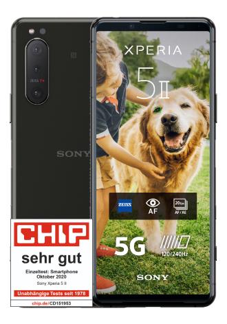 Sony Xperia 5 II 128 GB Black im MD Telekom green LTE 6 GB für 24,99€ monatlich + 99€ einmalig
