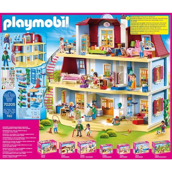 PLAYMOBIL 70205 Mein Großes Puppenhaus (592 Teile, mit funktionsfähiger Türklingel)