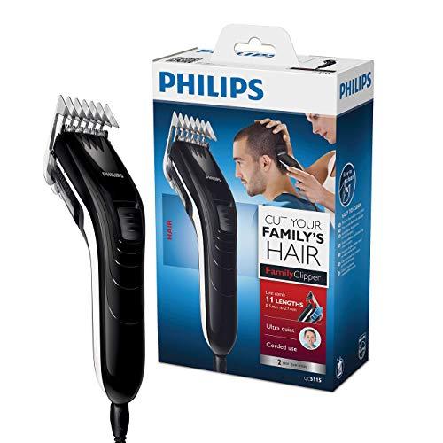 Philips QC5115/15 Haarschneidemaschine / Haarschneider mit elf Längeneinstellungen von 3 mm bis 21 mm - [Amazon Prime]