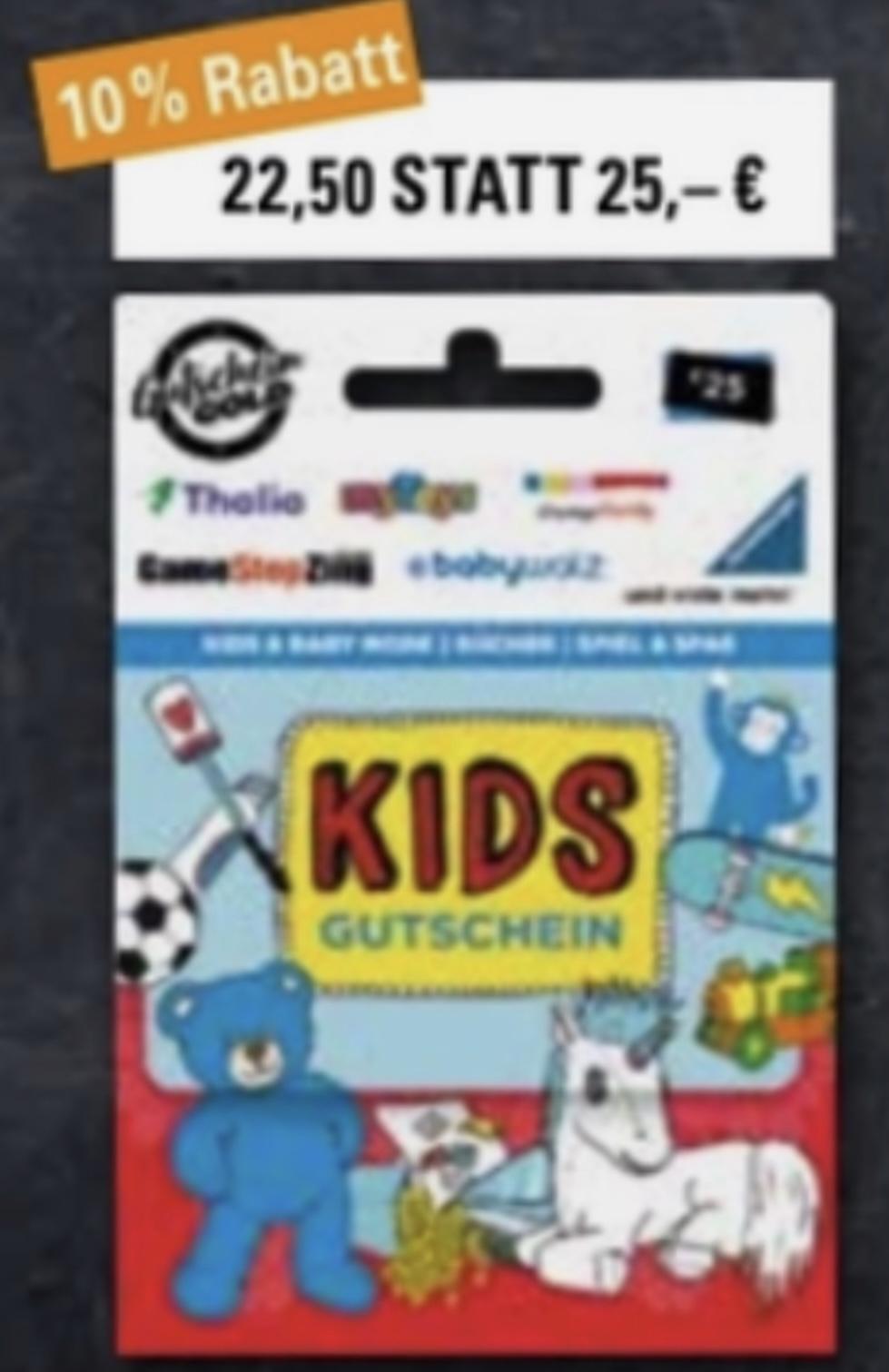 EDEKA/Marktkauf Nordbayern, Sachsen, Thüringen: 10% Rabatt auf Kids Universalgutscheine für z.B. mytoys, GameStop oder Xbox Guthaben nutzbar