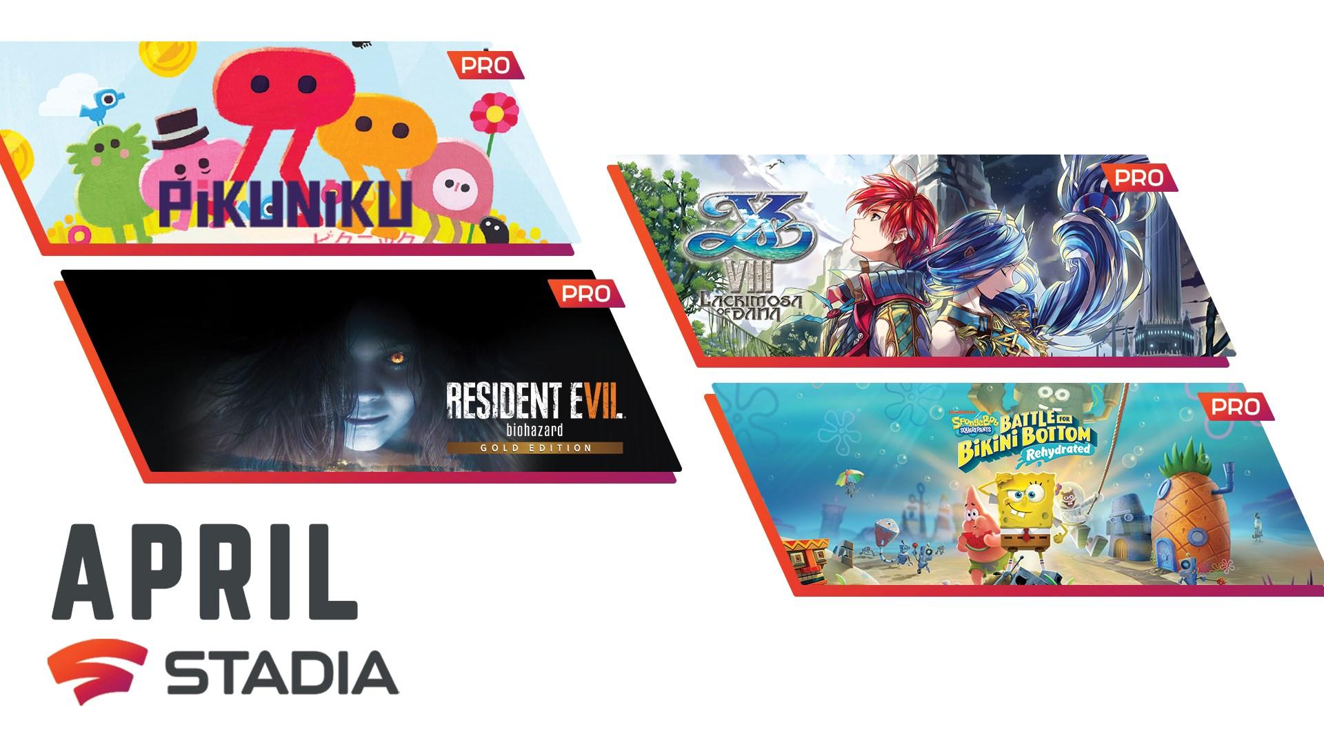 [Stadia Pro] April free Games: u.a. Resident Evil 7 biohazard Gold Edition und SpongeBob SquarePants