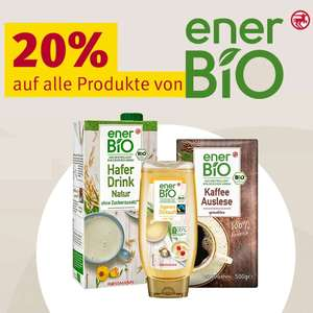 Rossmann:ab 29.3.21 20% Rabatt auf alle Produkte von enerBiO (kombinierbar mit 10% Coupon)