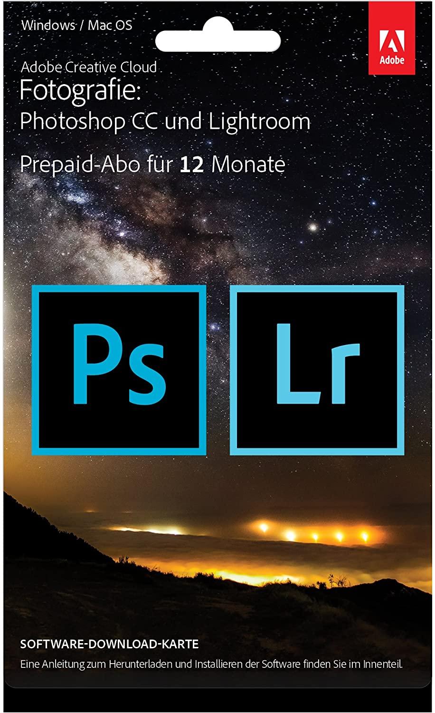 10€ Aktionsgutschein auf bereits reduzierte Adobe Produkte bei NBB - Adobe Black Week zB Adobe Creative Cloud Foto-Abo Photoshop & Lightroom