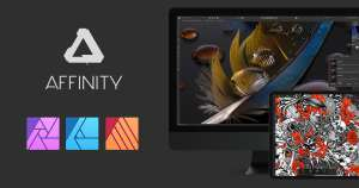50% Rabatt auf AFFINITY Software iPad Mac PC Bildbearbeitung und Grafik Design