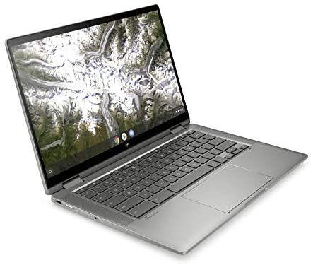 HP Chromebook x360 14c-ca0259ng (14 Zoll / FHD IPS Touch) Convertible Chromebook (Intel Core i5-10210U, 8GB DDR4 RAM, 128GB eMMC
