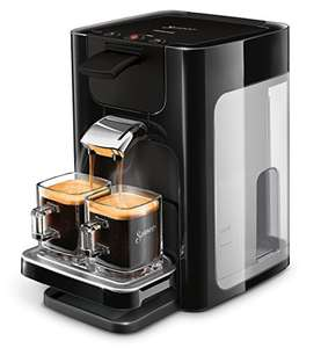 Philips HD7865/60 Senseo Quadrante Kaffeepadmaschine, Edelstahl, Schwarz