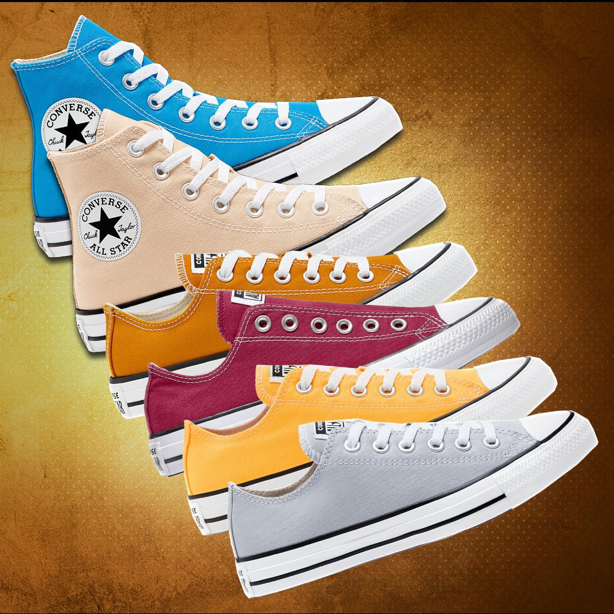 [Geomix] Converse Sneakers-Sale, zB.:Chuck Taylor All Star Slip On gelb oder rot (Größen 37 bis 46,5)
