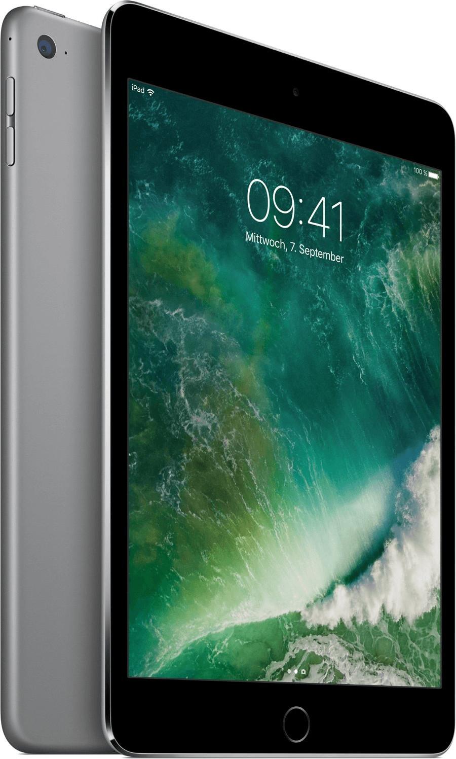 "[gebraucht] Apple iPad mini 4 Wi-Fi 128GB (2015) Space Gray (7.9"", 2048x1536, IPS, 2GB RAM, Lightning, iPadOS 14.4, 299g)"