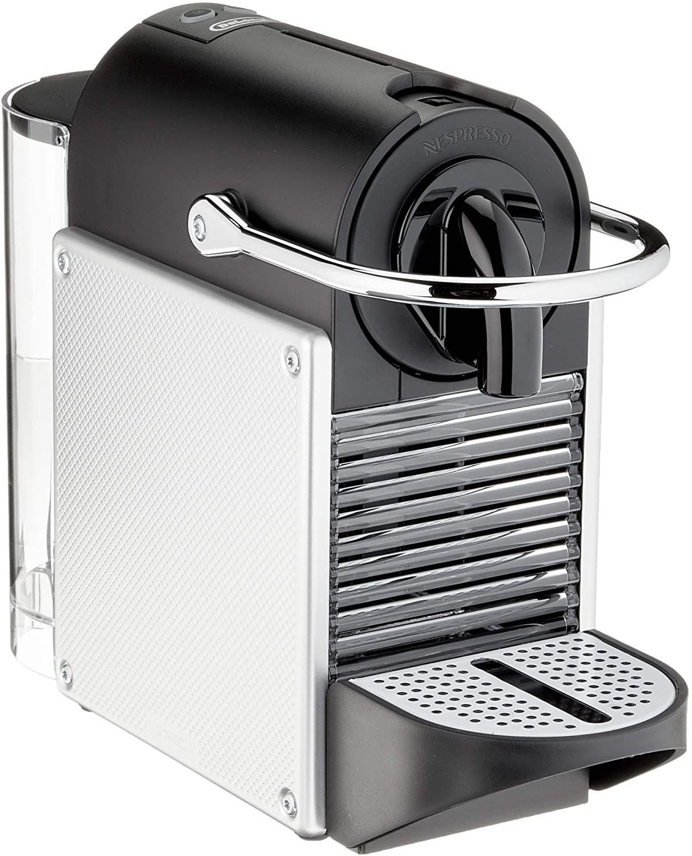 De'Longhi Nespresso EN 124.S Kapselmaschine Pixie Silber | 1260 Watt | 0,7 Liter | Seitenpanels aus recycelten Nespresso Kapseln [Amazon]