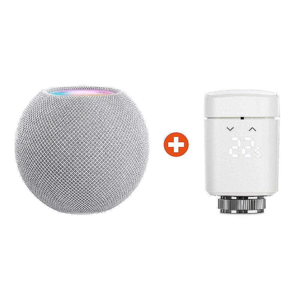 Apple HomePod mini grau/weiß + Eve Thermo Heizkörperthermostat