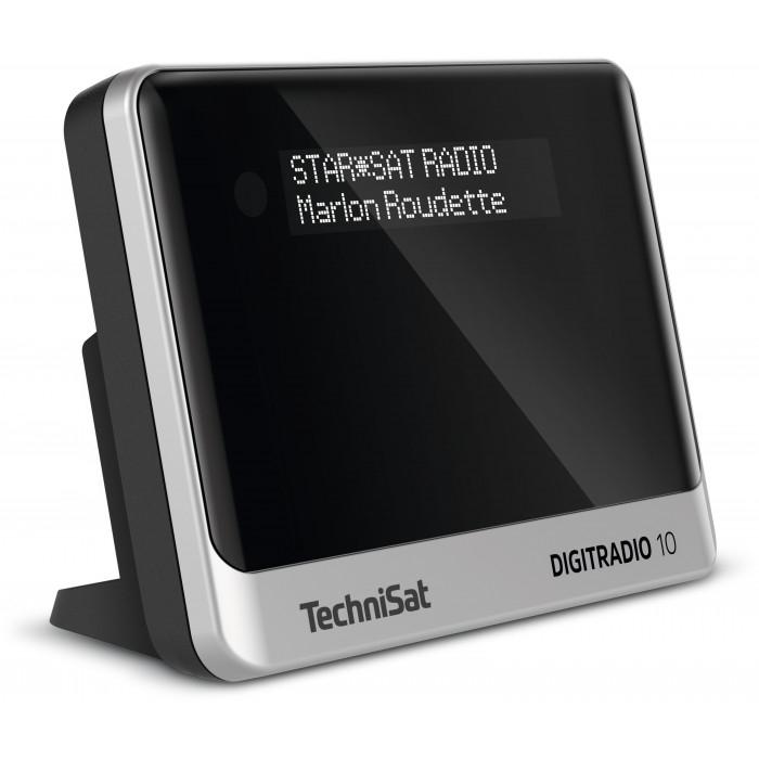 TechniSat DigitRadio 10 Radioadapter (DAB+, UKW, Bluetooth 4.1, Wecker, OLED-Display, Cinch-Out, RF-In, Mini USB, Fernbedienung)