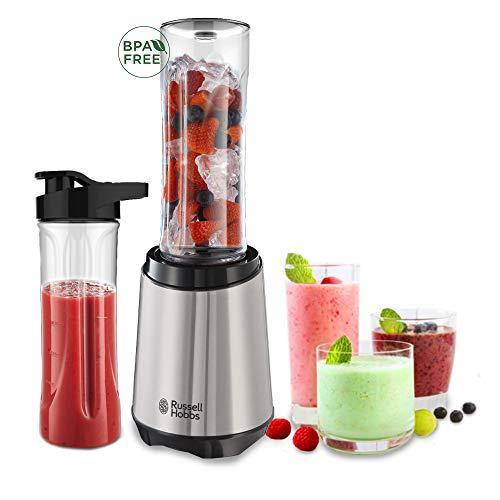 [Amazon Prime] Russell Hobbs Standmixer Mix&Go Steel, inkl. 2 BPA-freie & spülmaschinenfeste Tritan Trinkflaschen + Deckel (600ml)