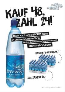 Storm H2O + Coffein Wasser two for one