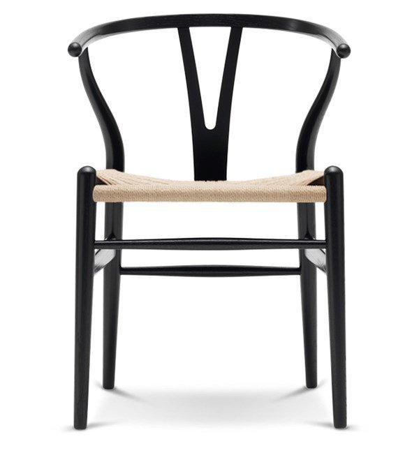 Wishbone Chair Eiche Schwarz Lack