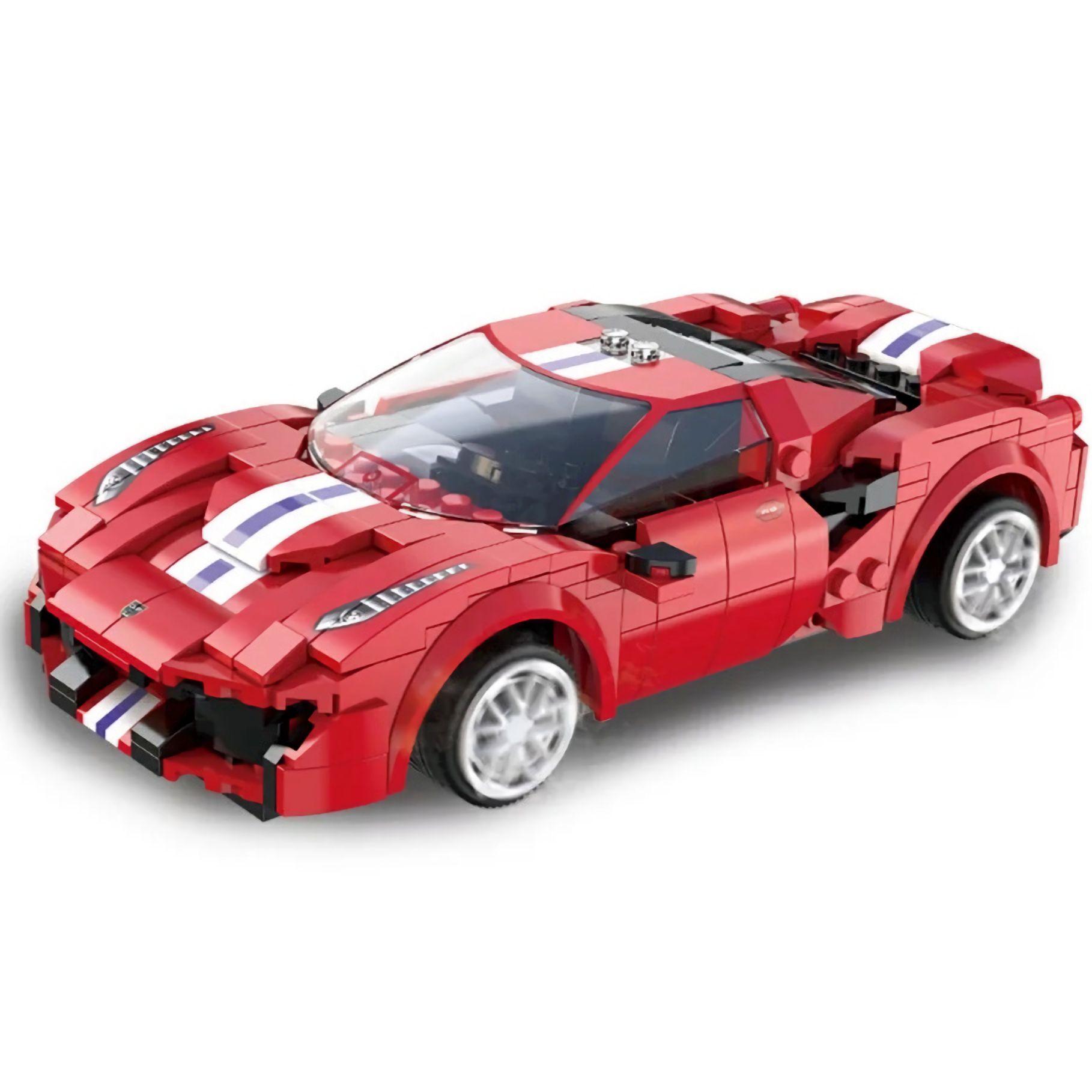 Cada Ferrari 488 Pista: Mini Klemmbausteine Set mit Motor (306 Teile, 2.4G Fernbedienung, 25m Reichweite, physische Anleitung)