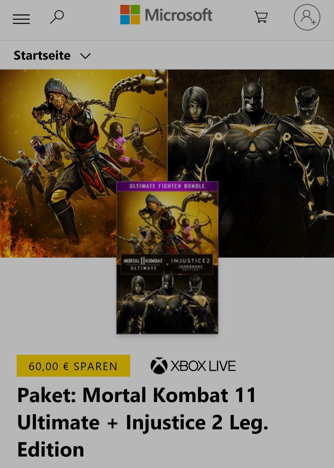 Xbox: Mortal Kombat 11 Ultimate & Injustice 2 Legendary Edition Paketpreis