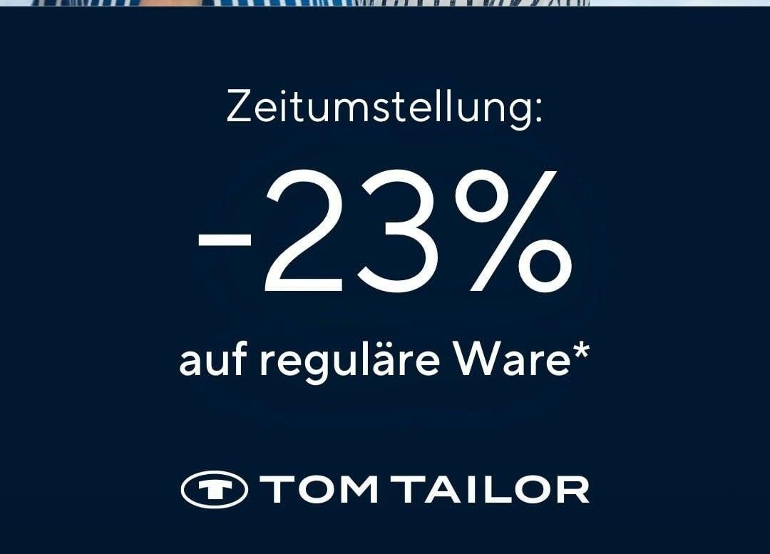23% Rabatt bei Tom Tailor vom 27.03.21 bis 28.03.21