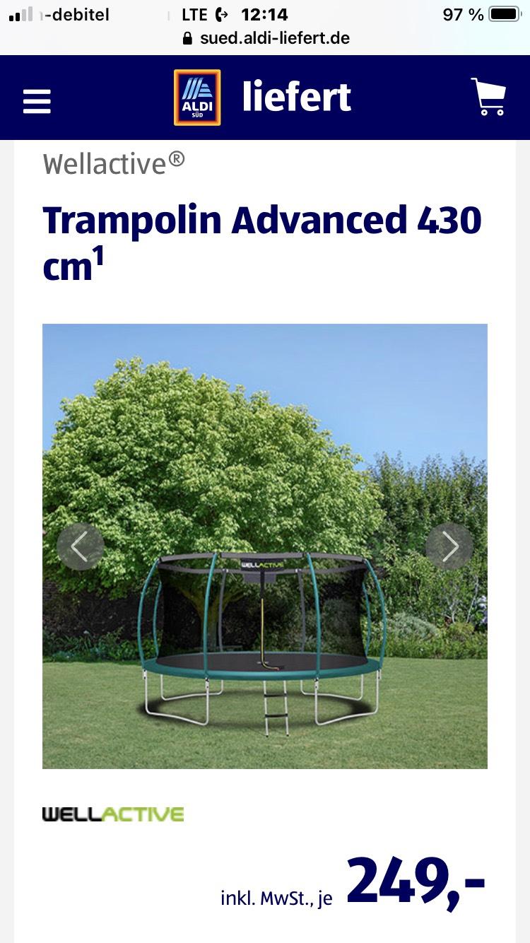 Schnell sein!!! 4,30m Trampolin bei ALDI liefert